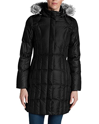 Eddie Bauer Women's Lodge Down Parka, Black Regular M Regular