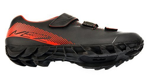 SHIMANO SH-ME2 Men's Mountain Enduro SPD Cycling Shoes – Black/Orange – 45