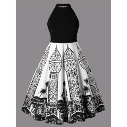 Plus Size Open Back Dress