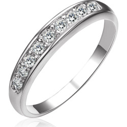 Sterling Silver Diamond Band Romantic Ring for Woman Lover