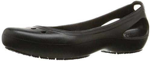 Crocs Women's Kadee Ballet Flat,Black/Black,8 M US