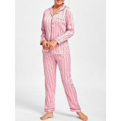 Satin Shirt Pajama Set