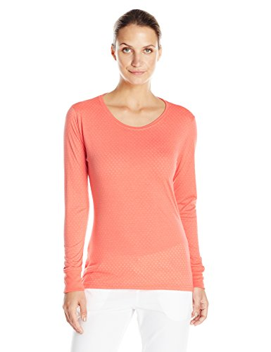 Carhartt Women's Long Sleeve Burnout Jersey Tee T-Shirt, Coral, X-Large
