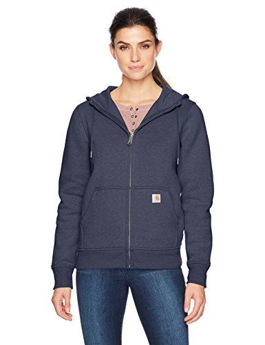 Carhartt Women's Clarksburg Full Zip Hoodie, Navy, L