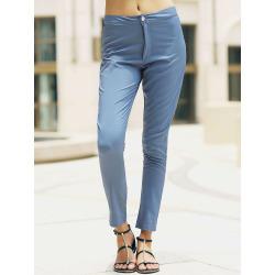 High-Waisted Pocket Design Slimming Jeans