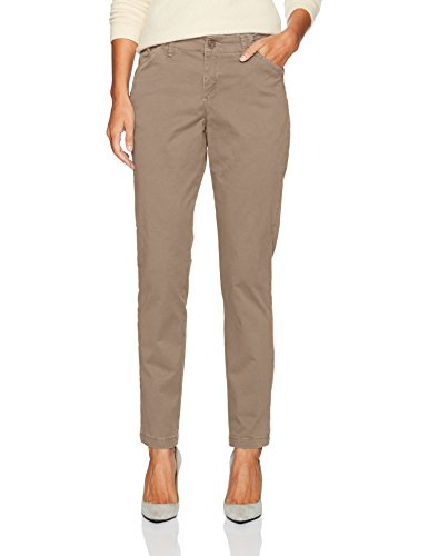 LEE Women's Eased Fit Tailored Chino Pant, Light Fawn, 4