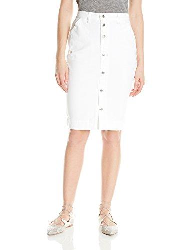 LEE Women's Modern Series Curvy Fit Rochester Skirt, White, 18