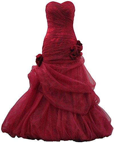 ANTS Women's Sexy Mermaid Lace Evening Dresses 2015 Prom Gown Size 22W US Burgundy