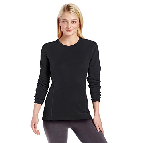 Minus33 Merino Wool Women's Ossipee Midweight Crew, Black, Medium