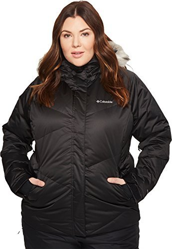 Columbia Women's Plus Size Lay D Down Jacket, Black, 2X
