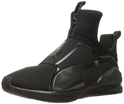 PUMA Women's Fierce Core Cross-Trainer Shoe, Black Black, 8.5 M US