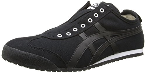 Onitsuka Tiger Mexico 66 Slip-On Classic Running Shoe, Black/Black, 8 M US