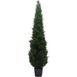 artificial cedar tree in pot uv 8ft green vickerman - Artificial Cedar Tree In Pot (UV) (8ft) Green - Vickerman