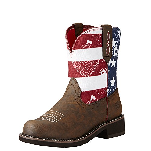 ARIAT WOMEN Fatbaby Heritage Western Cowboy Boot, Tooled Brown, 8.5 B US