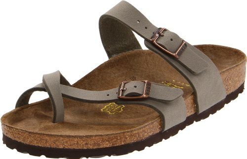 Birkenstock Women's Mayari Thong Sandal,Stone,EU Size 42/Women's US Size 11-11.5