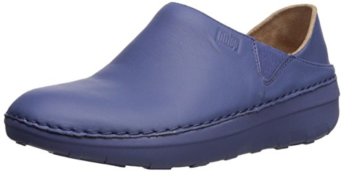 FitFlop Women's Superloafer Medical Professional Shoe, Indian Blue, 6 M US