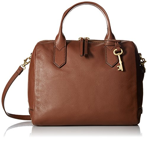 Fossil Fiona Satchel Handbag, Medium Brown