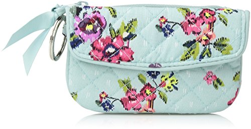 Vera Bradley Iconic Jen Zip ID, Signature Cotton, Water Bouquet