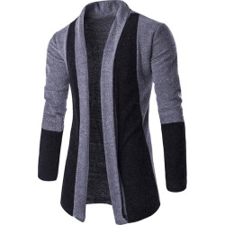 Color Block Shawl Collar Cardigan