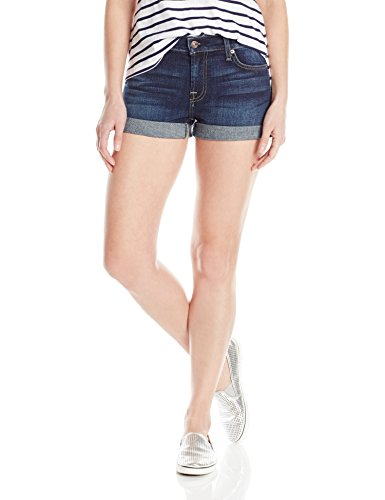 7 For All Mankind Women's Roll up Short, New Nouveau New York Dark, 28