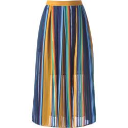 Flowy Stripe High Waisted Skirt