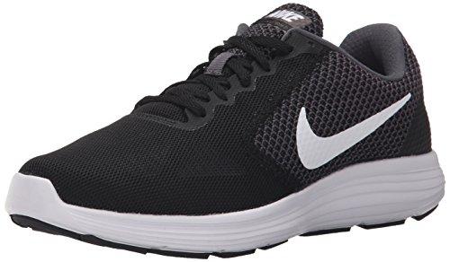 NIKE Women's Revolution 3 Running Shoe, Dark Grey/White/Black, 7.5 B(M) US
