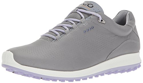 ECCO Women's Biom Hybrid 2 Perforated Golf Shoe, Wild Dove/Crocus, 39 EU / 8-8.5 B(M) US