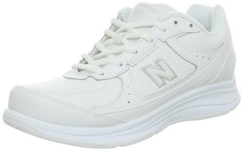 New Balance Women's WW577 Walking Shoe, White, 8 D US