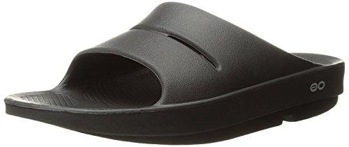 OOFOS Unisex Ooahh Slide Sandal,Black,10 B(M) US Women/8 D(M) US Men