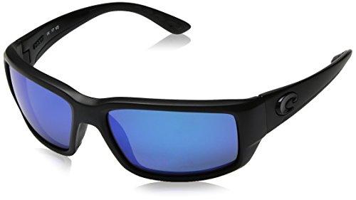 Costa Del Mar Fantail Sunglasses, Blackout, Blue Mirror 580 Glass Lens