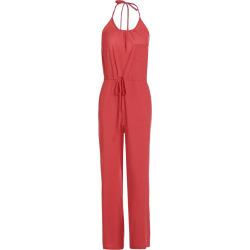Solid Color Spaghetti Strap Wide Leg Loose Jumpsuit