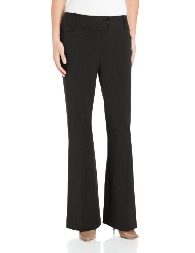 Rafaella Women's Petite Curvy Fit Gabardine Trouser, Black, 10 Petite