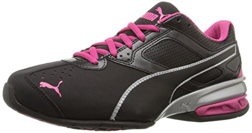 PUMA Women's Tazon 6 WN's Fm Cross-Trainer Shoe, Black Silver/Beetroot Purple, 10 M US