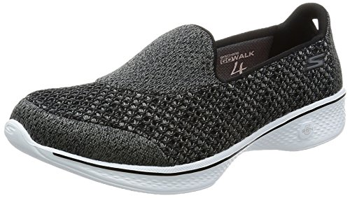 Skechers Performance Women's Go Walk 4 Kindle Slip-On Walking Shoe,Black/White,10 M US