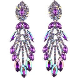 2017 NEW Women Fashion Jewelry Style Earrings Handmade Rhinestone Sweet Crystal Dangle Earrings for Girl