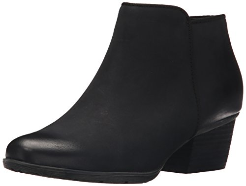 Blondo Women's Villa Waterproof Ankle Bootie, Black Leather, 8.5 M US
