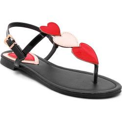Miss Shoe BK529 Flat Toe Sandals