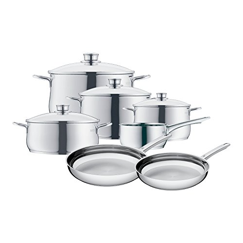 wmf 8400001725 11 piece stainless steel cookware set silver - WMF 8400001725 11 Piece Stainless Steel Cookware Set, Silver