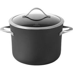 Calphalon Contemporary 8 Quart Non-stick Dishwasher Safe Stock Pot with Cover, Gray