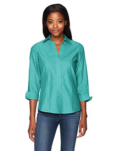 Foxcroft Women's Taylor Essential Non-Iron Blouse, Emerald Cut, 8
