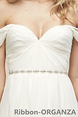 QueenDream Wedding sash for Women Organza Rhinestone sash sash Wedding Woman Rhinestone Belt Bridal Wedding sash Rhinestone Beaded Belt