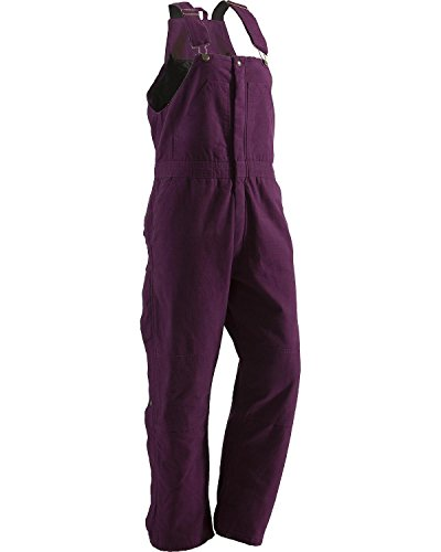Berne Women's Washed Insulated Bib Overalls Tall Plum ST
