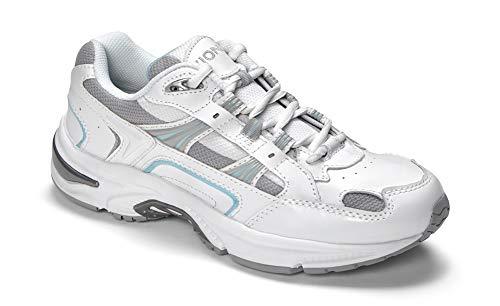 Vionic Women's White/Blue Orthaheel Walker Classic Shoes  – 7 B(M) US