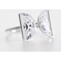 Sweet Delicate Rhinestone Letter Ring For Women