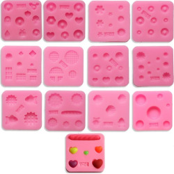 Facemile DIY Jelly Cookie Chocolate Cupcake Pendant Mold Cake Border Silicone Fondant Kitchen Baking Cake Decorating Too