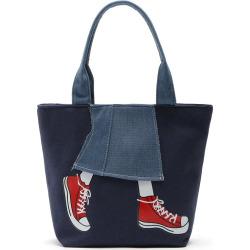 Canvas Girl Jean's Skirt Design Women Handbag Shouder Bag