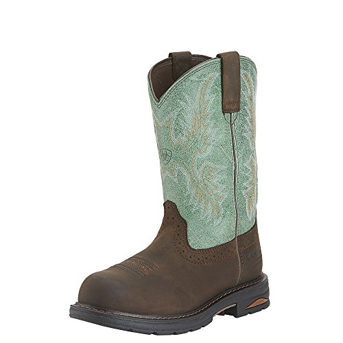 Ariat Womens Tracey H2O Comp Toe Western Work 9 B / Medium(Width) Oily Distressed Brown