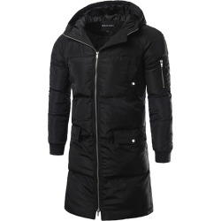 Zip Up Hooded Padded Coat