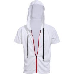 Hooded Short Sleeves Hoodie