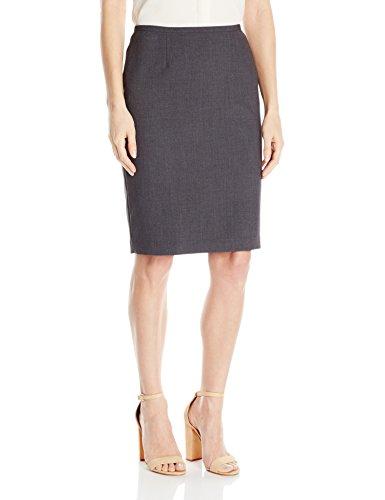 Calvin Klein Women's Lux Solid Pencil Skirt, Charcoal Melange, 8